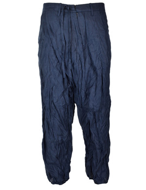 front folded trousers navy